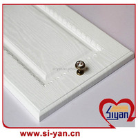 pvc kitchen cabinet doors with white wood grain
