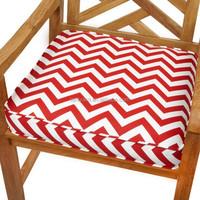 custom made design chevron red patio chair cushion replacement chair cushion