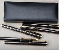 Fluent writing fountain pen for business gift box ball roller pen set/pen
