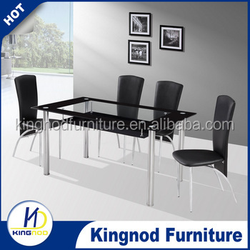 philippine dining table set 4 seater glass dining table design modern dining room furniture table and chair for sale