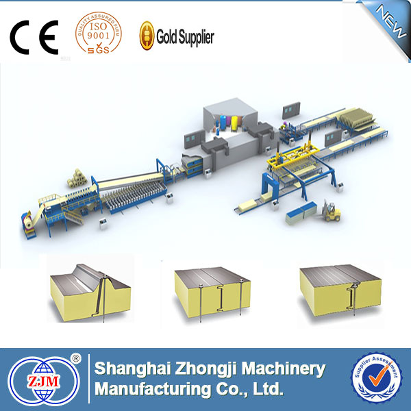 Zhongji EPS/Mineral Wool aluminium composite panel production line
