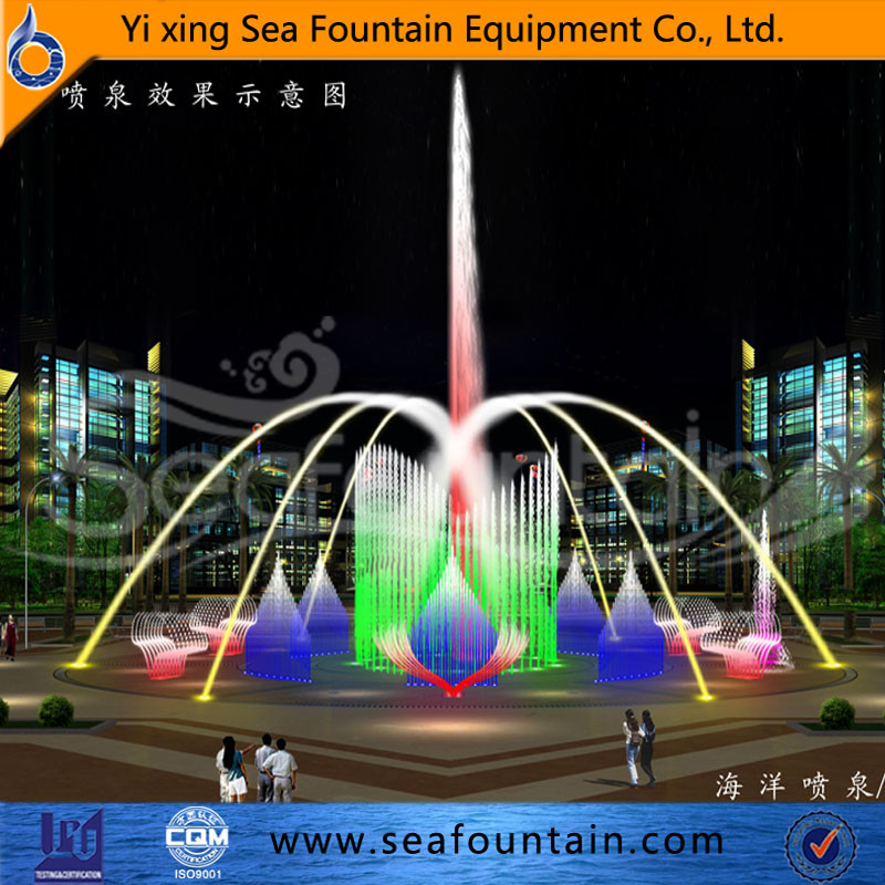 Inside spray 3 layer water shape music dancing fountain design