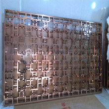Dubai Decorative Stainless Steel Folding Screen custom made Room Divider