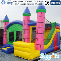 China Inflatable Bouncing Jumping Castle With Slide For Kids