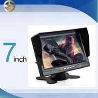 HD 7 inch tft led color car headrest monitor with sun visor SJ-702A