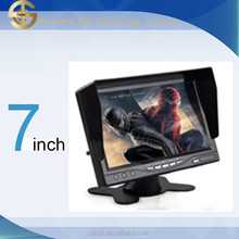 HD 7 inch tft led color car headrest monitor with sun visor SJ-702A