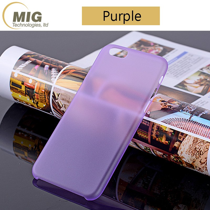 0.3mm Slim Cover Frosted Hard Transparent Plastic Cell phone case for iPhone 7 Case