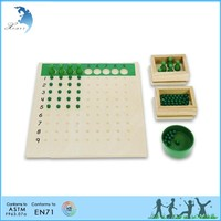 diy wooden toys for children division board with bead box montessori