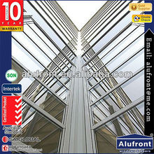 Aluminum curtain wall for exterior & interior decoration/ glass wall