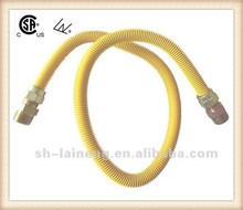Yellow-coated flexible natural gas corrugated connector gas hose hot seller