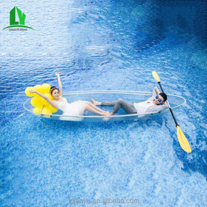 3 seat clear plastic canoe kayak double