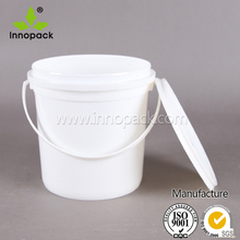 2 litre small plastic buckets with lid and handle made in China