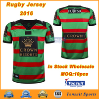 Small MOQ accepted rugby jersey in Thailand, cheap football kits dry fit rugby league jersey, sublimated rugby style shirt