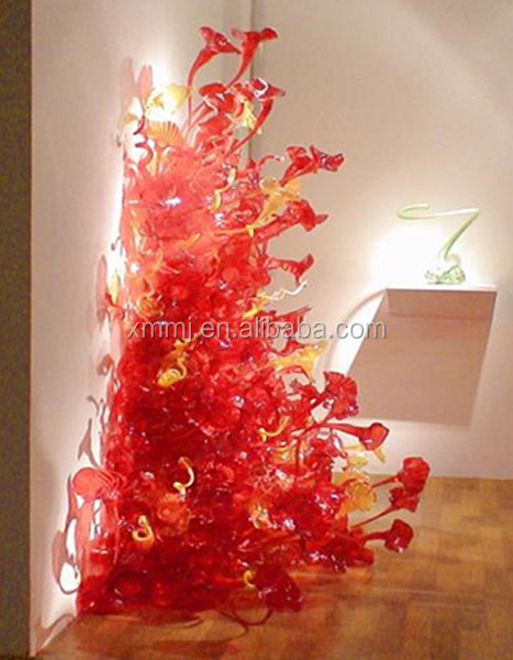 현대 블루 유리 꽃 조각 주택 벽 아트 장식 - Buy Product on Alibaba.com