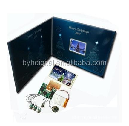 lcd screen wedding invitation card/customized design matte printing 4.3