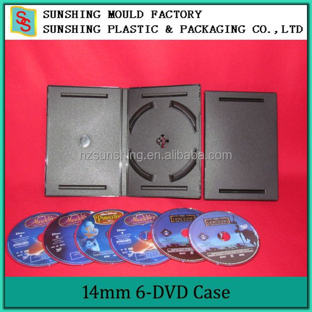 China Factory Media Packaging 6 Discss DVD Case/DVD Box