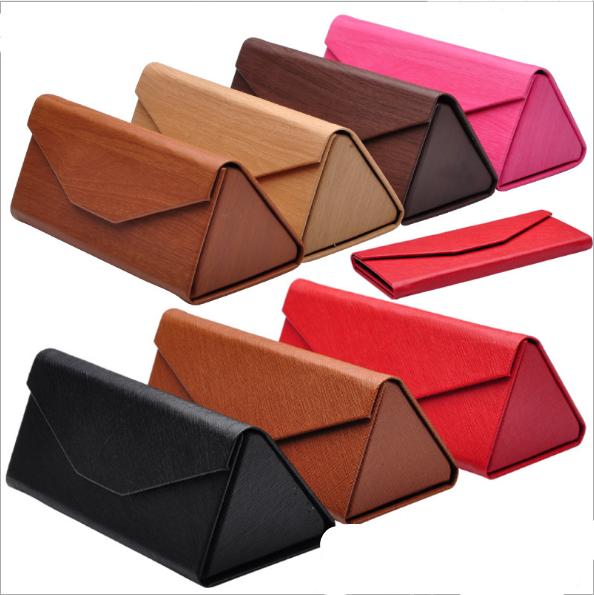 Wholesale Multicolor custom logo foldable hard leather sunglasses case box