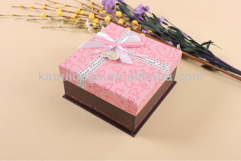 Pink white dot paper folding gift boxes large wholesale gift boxes