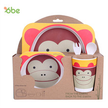 Kids bamboo fibre tableware