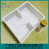 Disposable plastic meal tray with compartment