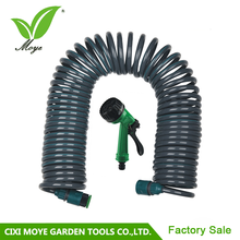 Manufacturer High Quality 50ft wwatering fittings garden coil hose with hose nozzle