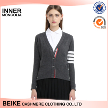 Wholesale 2017 new fashion cardigan style 100% cashmere sweater