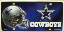 Dallas Cowboys NFL Embossed Wholesale Metal Novelty License Plate Tag Sign 1801M