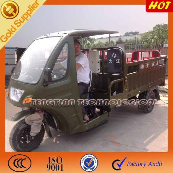 Poweful three wheel motorcycle with carring heavy goods