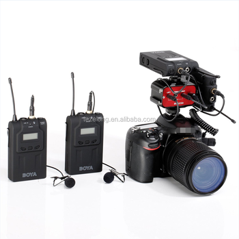 hot sale BY-WM6 Omni-directional Lavalier Microphone UHF Wireless Microphone System for ENG EFP DV DSLR Cameras boya