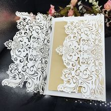 Yiwu Aimee wholesale 3d laser cut wedding invitation card(AM-WC03)