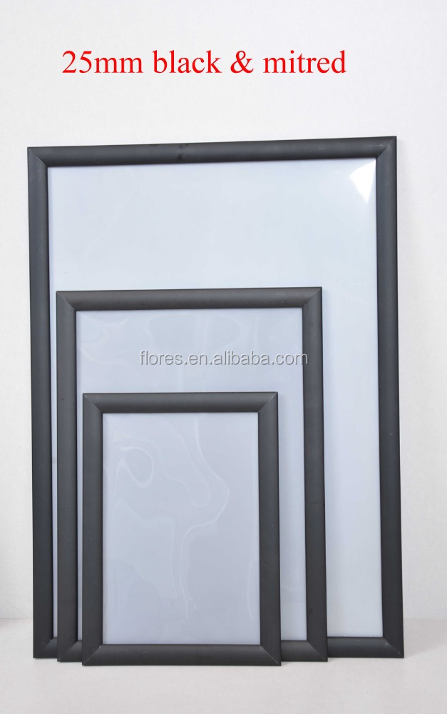Factory price a4 snap open frame Anodised silver easy open black/golden customized silver Sign Poster Frame