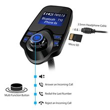 FM Transmitter Automotive Car Kit Wireless Bluetooth Modulator Radio Adapter, USB Charger Audio Receiver