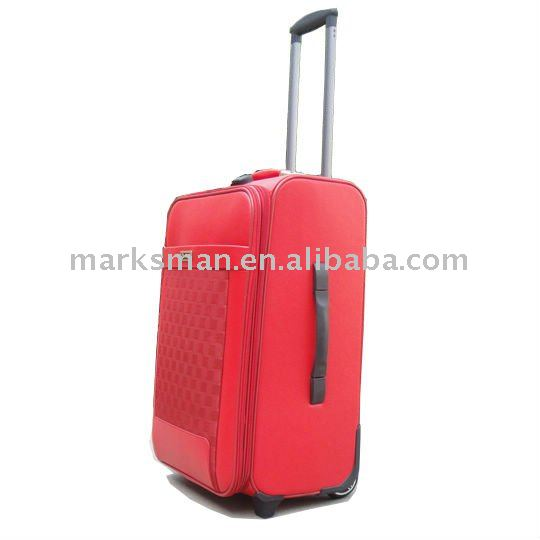 PU rolling laptop suitacse set with trolley