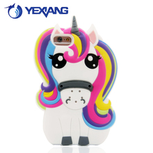 unicorn design silicone tpu cover case for iphone 4 4s 5 5s 6s 6plus cute case