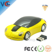 2.4G Wireless optical laptop mouse cordless car shape mouse