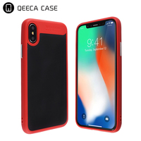 Premium Anti shock design transparent PC + TPU hybrid hard phone cases for iphone x Crystal clear PC back cover