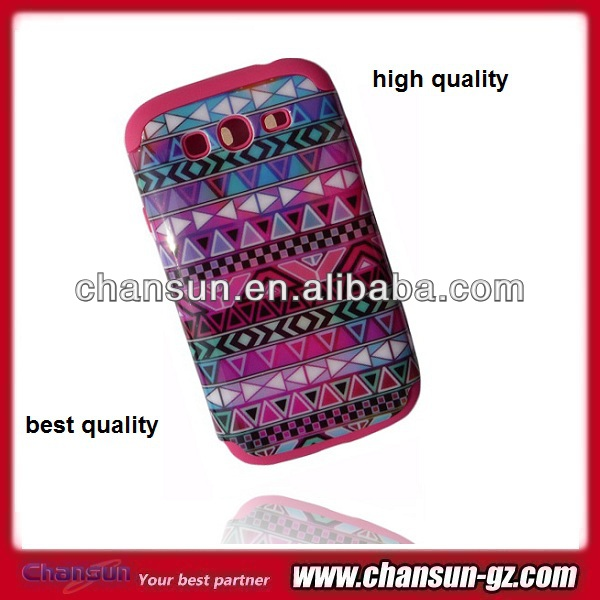 Glow combo case with printing for samsung galaxy grand duos i9080