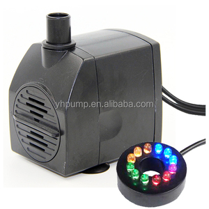 Low Voltage 160GPH Submersible Water Fountain Pump With Colorful LED Light