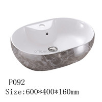 Made in china Bathroom Ceramic basin oval