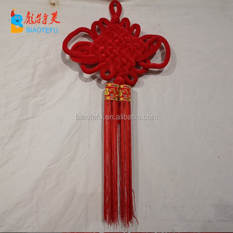 Chinese traditional big Lucky red tassel knot