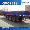 CIMC Payload 30~60 Tons Three Axles Bulkhead Dropside Cargo Trailer for Semi-Trailer Truck