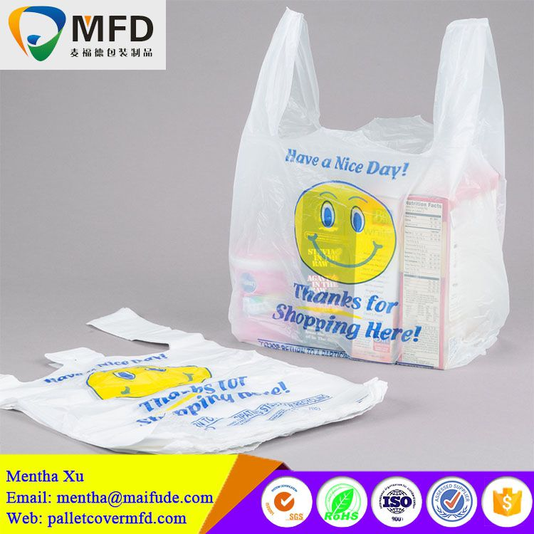 New Product t shirt shopping design your own plastic bag