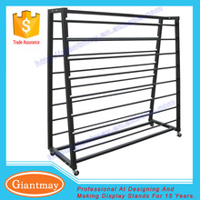 free standing wallpaper fabric rug metal display rack and stand fabric roll storage