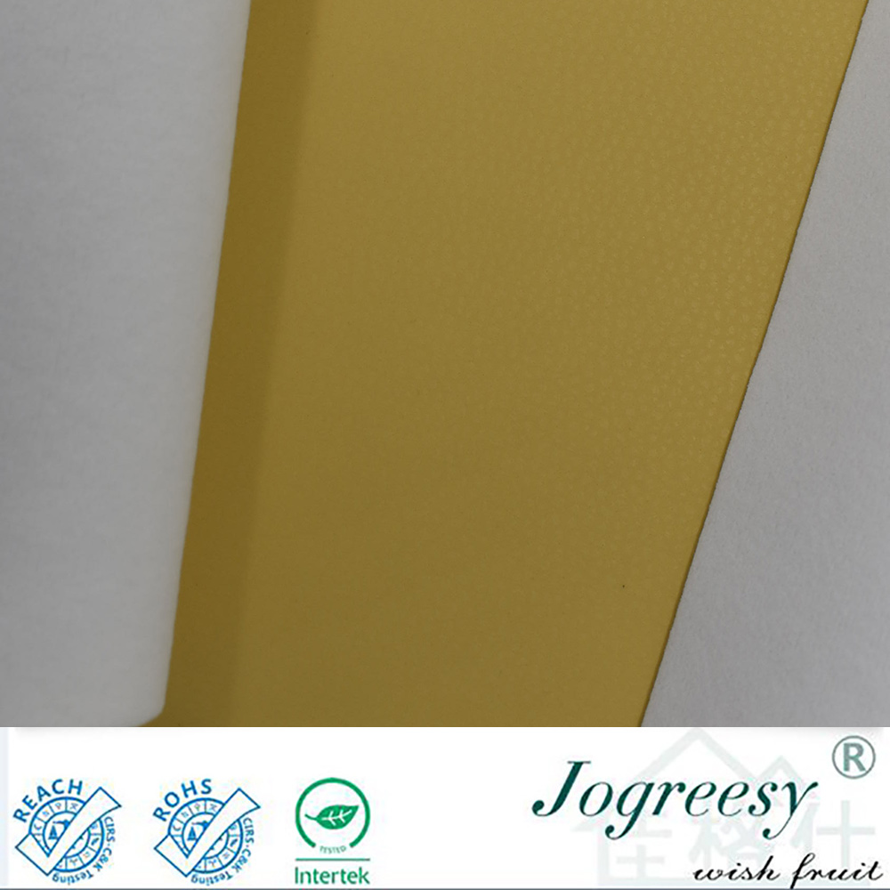 yellow smooth skin feeling pu leather for car seat cover