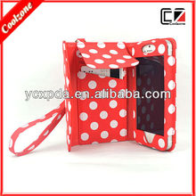 Girls Fashinable and Multi-function wallet PU leather case for iPhone 5