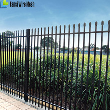 Low price galvanised tube Steel Ornamental Fence supplier
