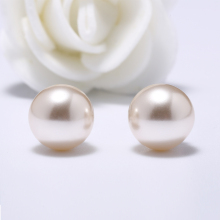 Ladies Earrings Designs Pictures Champagne Color Single Pearl Stud Earrings For Women Jewelry