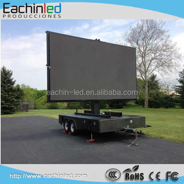 P10 dual sided led trailer led outdoor advertising board