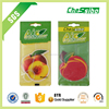 car pendant Custom fruit shape paper air freshener, absorbent paper for car air freshener