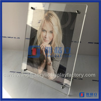OEM beautiful designed paper insert acrylic fridge magnet photo frame